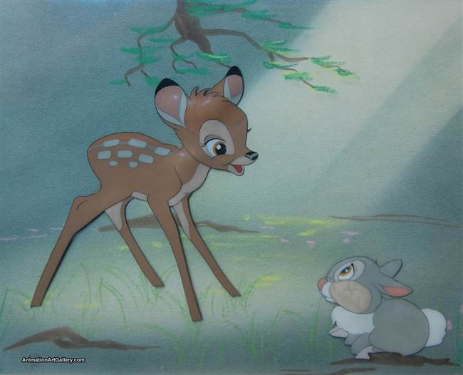 Courvoisier Cel of Bambi and Thumper from Bambi