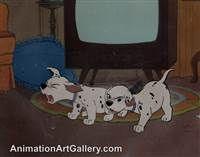 Disneyland Cel Set-up of some puppies from 101 Dalmatians