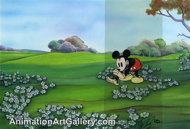 Ink Test Cel of Mickey Mouse from Disney Studios (c. 1930s)