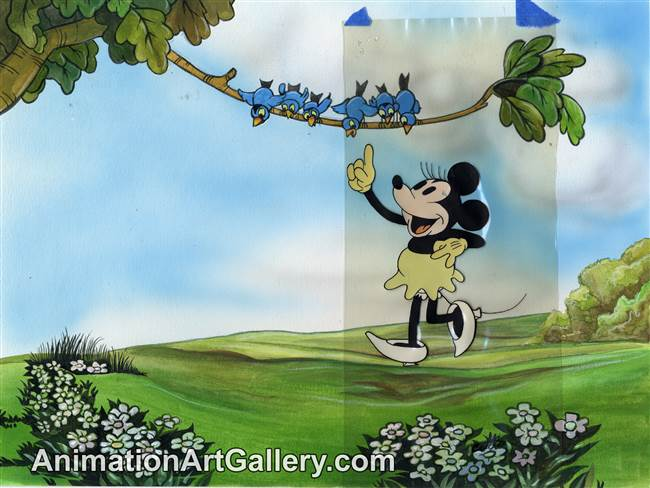 Ink Test Cel of Minnie Mouse from Disney Studios (c. 1930s)