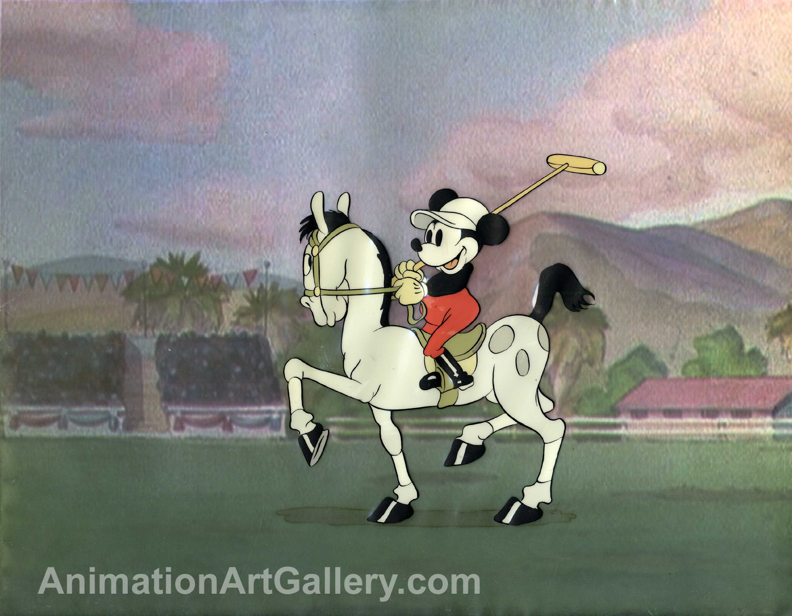 Original Production Cel of Mickey Mouse from Mickey's Polo Team