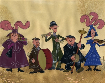 Original Disneyland Cel Set-up of The Pearly Band from Mary Poppins (1964)