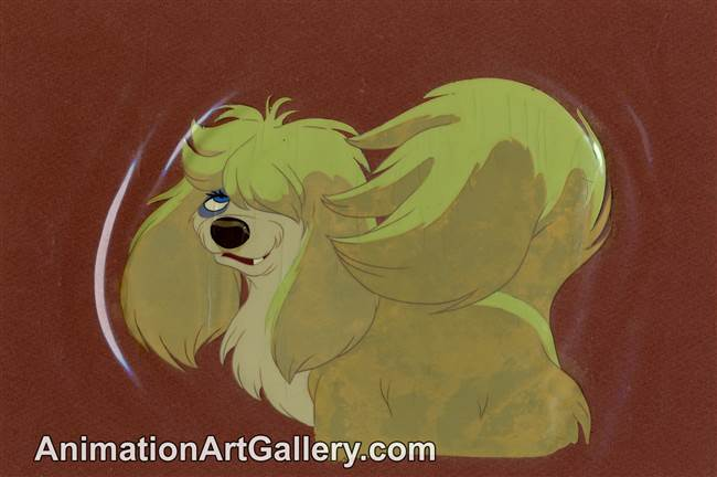 Disneyland Cel Set-up of Peg from Lady and the Tramp from Lady and the Tramp