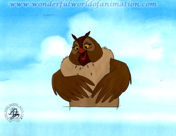 Production Cel of Big Mama Owl - WDCCJP1