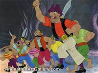 Production Cel of some pirates from Peter Pan
