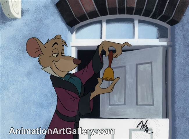 Production Cel of Basil from The Great Mouse Detective