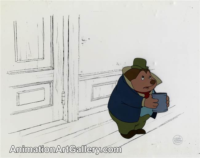 Production Cel of Mole from Mickey's Christmas Carol