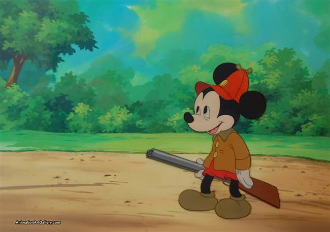 Production Cel of Mickey Mouse from The Pointer