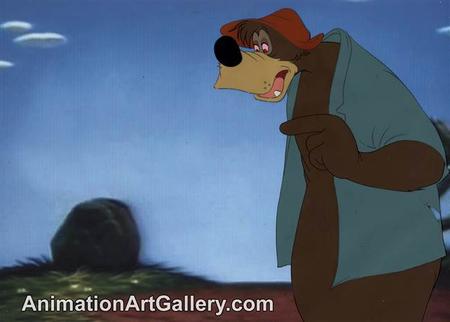 Production Cel of Brer Bear from Song of the South