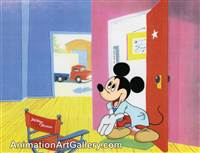 Production Cel of Mickey Mouse from Disney Studios (c. 1990s)