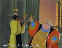 Disneyland Cel Set-up of King Stefan and King Hubert from Sleeping Beauty
