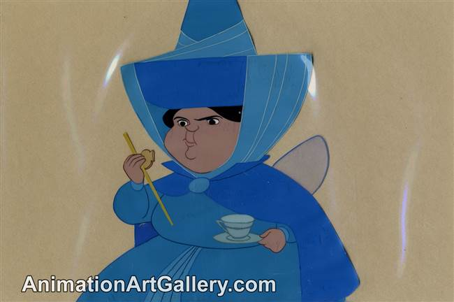 Disneyland Cel Set-up of Merryweather from Sleeping Beauty