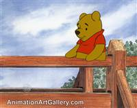 Production Cel of Winnie the Pooh from Winnie the Pooh and a Day For Eeyore
