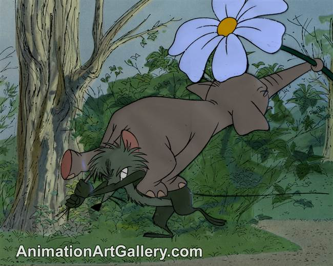Disneyland Cel Set-up of Goliath the Elephant and a mouse from Goliath II