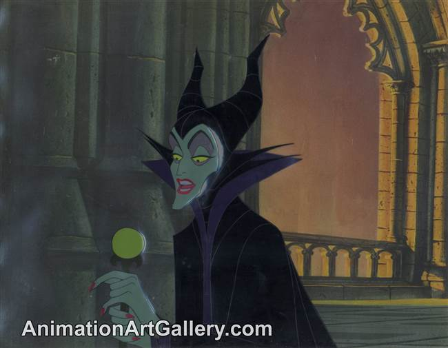 Production Cel of Maleficent from Sleeping Beauty