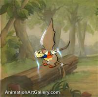 Production Cel of the Flying Mouse from The Flying Mouse