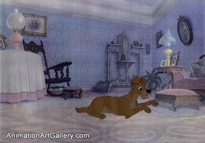 Production Cel of Tramp from Lady and the Tramp