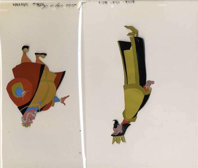 Original Production Cels of King Stefan and King Hubert from Sleeping Beauty