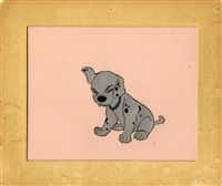 Original Production Cel Disneyland Set-up of a Puppy from 101 Dalmatians (1961)