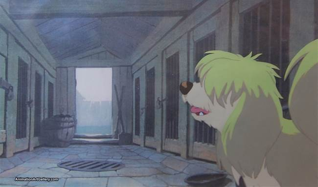 Production Cel of Peg from Lady and the Tramp from Lady and the Tramp