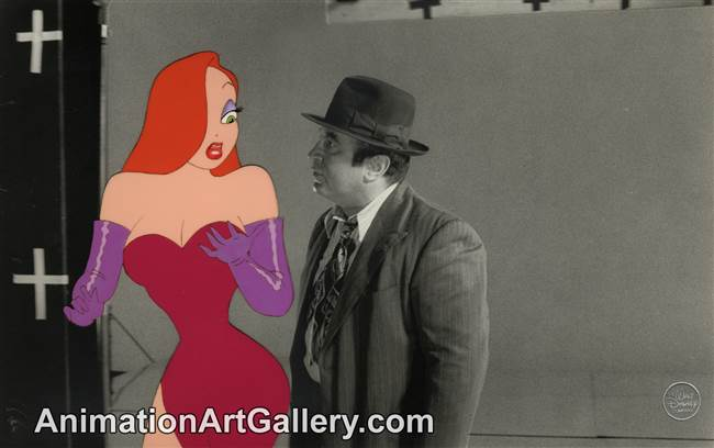 Production Cel of Jessica Rabbit from Who Framed Roger Rabbit