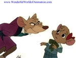 Production Cel of Basil and Olivia Flaversham from The Great Mouse Detective