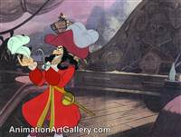 Production Cel of Captain Hook from Peter Pan