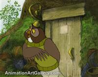 Production Cel of the Owl from Pooh from Seasons