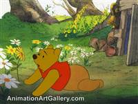 Production Cel of Winnie the Pooh from Seasons
