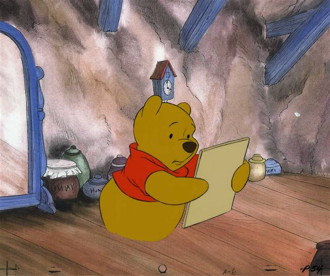 Original Production cel of Winnie the Pooh from Winnie the Pooh Discovers the Seasons (1984)
