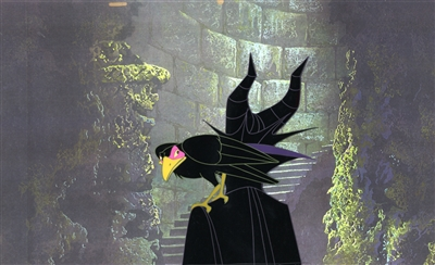 Production Cel of Diablo and Maleficent from Sleeping Beauty