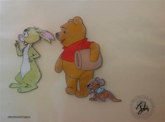 Production Cel of Winnie the Pooh and Rabbit from Winnie the Pooh from Winnie the Pooh and a Day For Eeyore