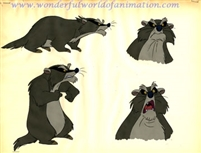 Color Model Cel of the Badger from The Fox and the Hound