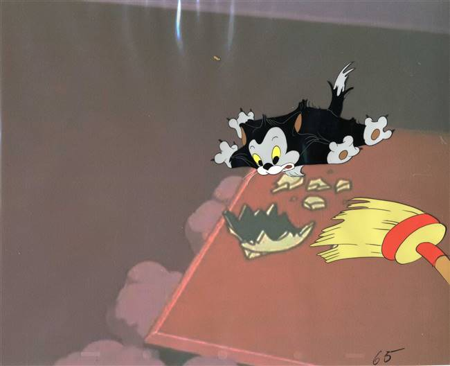 Original Production Cel of Figaro from Figaro and Frankie (1947)