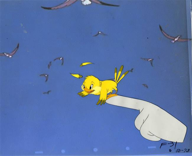 Original Production Cel of Frankie from Figaro and Frankie (1947)