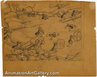 Storyboard of some ants from The Grasshopper and the Ants