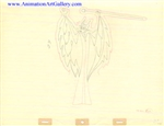 Production Drawing of Maleficent - WDD593