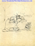 Publicity Drawing of Peg Leg Pete with Donald Duck - WDDCR2