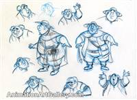 Model Drawing of Maurice from Beauty and the Beast