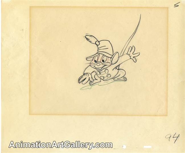 Production Drawing of Timothy Mouse from Dumbo