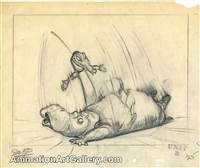 Layout Drawing of Hyacinth Hippo and Ben Ali Gator from Fantasia
