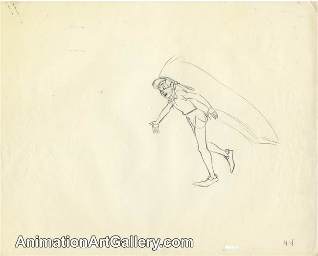 Production Drawing of Peter Pan from Peter Pan