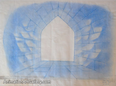 Layout Drawing of a window from Beauty and the Beast