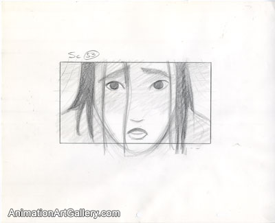 Storyboard of Mulan from Mulan