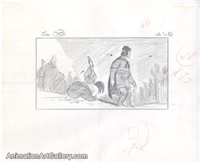 Storyboard of Mulan and Shang from Mulan