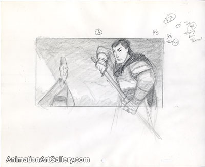 Storyboard of Shang and Chi Fu from Mulan