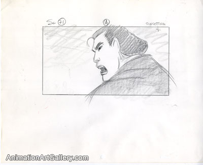Storyboard of Shang from Mulan