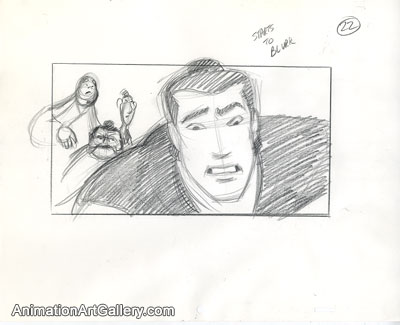 Storyboard of Shang and Yao, Ling, and Chien Po from Mulan