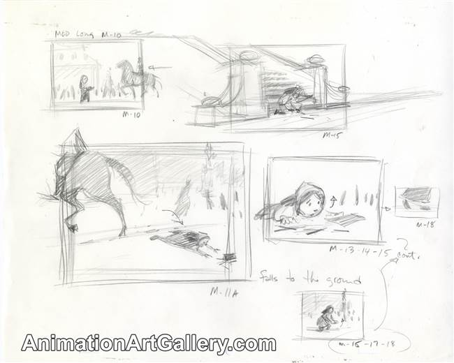 Storyboard of the Little Matchgirl from The Little Matchgirl