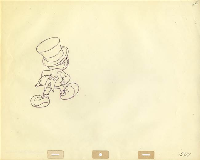 Original Production Drawing of Jiminy Cricket from Disney TV